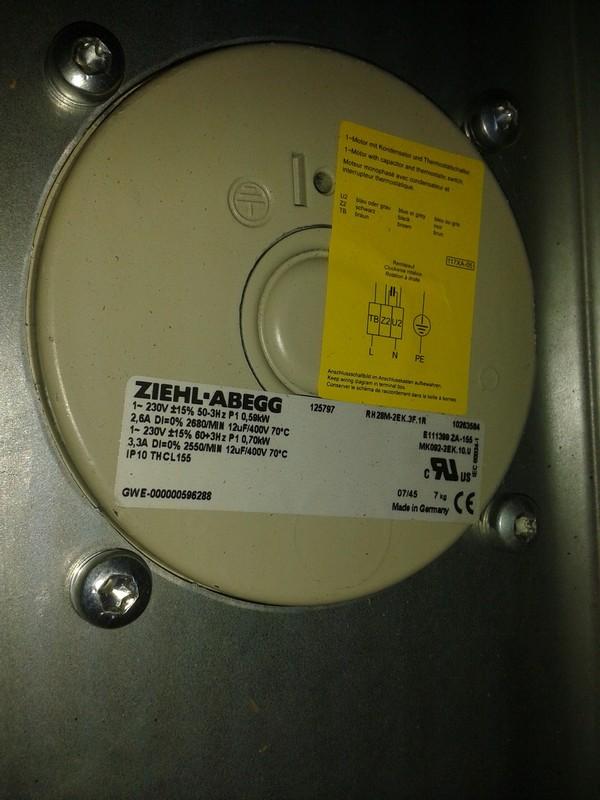 125797E Ziehl Abegg | Deutschland Verkauf