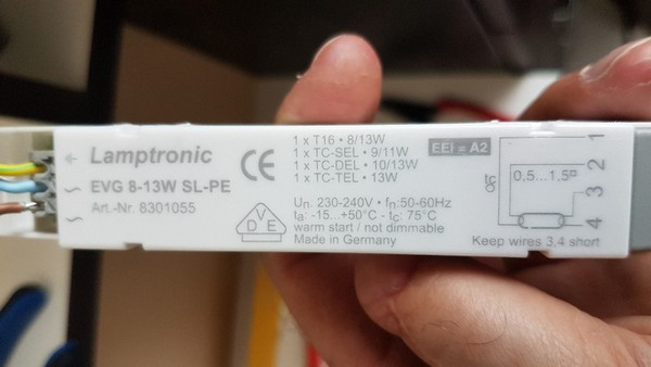 LAMPTRONIC 230 VAC 30 Watt EVG elektronisches Vorschaltgerät