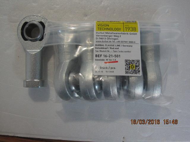 Gelenkkopf DURBAL BRM 10-00-501 M 10 Außengewinde