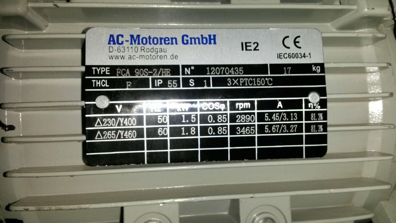 FCA 90S-2/HE AC Motoren TÜRKİYE Satışı