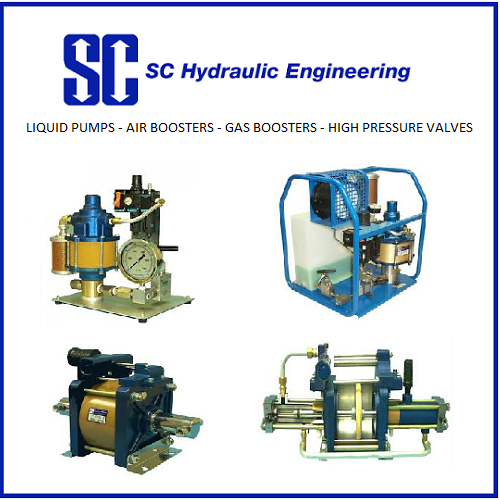SC Hydraulic LIQUID PUMPS GAS BOOSTERS AIR BOOSTERS